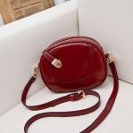 กระเป๋าสะพายแฟชั่น Mini Circle สีแดง