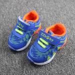 รองเท้าเด็กวัยหัดเดิน ทรง Sport คัทชูทรงเท่สีฟ้าส้ม (เท้ายาว 12-14 ซม.)