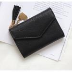 กระเป๋าสตางค์ใบกลาง PRETTY LETTER สีดำ