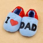 รองเท้าหัดเดินเด็กอ่อน ลาย I love Dad วัย 0-12 เดือน