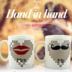 แก้วน้ำเปลี่ยนรูป Mr & Mrs