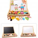 ของเล่นไม้ กระดานแม่เหล็กต่อภาพ 2 หน้า Magnetic Puzzle