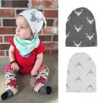 หมวกเด็กอ่อนเท่ๆ ลายกวาง สำหรับเด็กวัย 3-12 เดือน