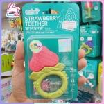 ยางกัดอังจู สตอเบอร์รี่ แบบวง Fruit Teether - Strawberry พร้อมคลิปติดกันหล่น