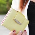 กระเป๋าสตางค์ใบสั้น Prettyzys tabby สีเหลือง