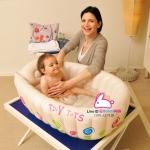 อ่างอาบน้ำเด็ก แบบเป่าลม วัดความร้อนของน้ำได้