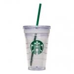 แก้ว 2ชั้น Starbuck พร้อมหลอดแข็ง
