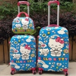 กระเป๋าเดินทางล้อลาก Hello Kitty สีน้ำเงิน < พร้อมส่ง >