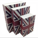 ตู้เซฟหนังสือ ลายธงชาติอังกฤษ < พร้อมส่ง >