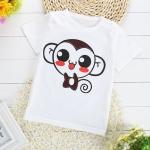เสื้อยืดเด็กเล็ก ลายลิงน้อย มีกระดุมข้างคอ สำหรับเด็กวัย 1-4 ปี