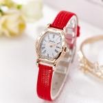 นาฬิกาแฟชั่นผู้หญิง(สีแดง)