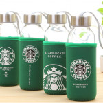 ขวดแก้ว Starbuck หุ้มปอกกันร้อน 400ml