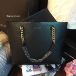 HOT PROMOTION - กระเป๋า CHARLES & KEITH DOUBLE CHAIN STRAP TOTE BAG สีดำ