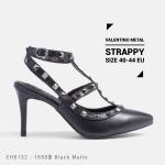 รองเท้าส้นสูงไซส์ใหญ่ Valentino Metal Strappy Pointed Toe ไซส์ 40-44 EU รุ่น CH0132