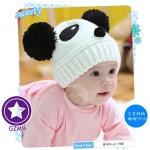 หมวกไหมพรมหมีแพนด้า สำหรับเด็ก 5 เดือน- 4 ปี