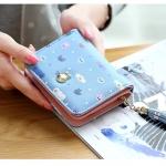กระเป๋าสตางค์ใบสั้น PRETTY RABBY สีฟ้า