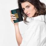 CHARLES & KEITH PUSH-LOCK WALLET NEW ARRIVAL 2017 กระเป๋าเงินใบกลาง สีเขียว