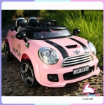 รถแบตเตอรี่เด็ก mini cooper สีชมพู 2 มอเตอร์
