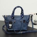 กระเป๋า KEEP Longchamp Duo Sister With Strap สีน้ำเงิน