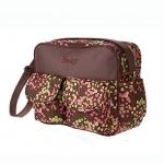 กระเป๋าสัมภาระลูก Baby สะพายใบเล็ก ลายดอกไม้เกาหลี สีน้ำตาล