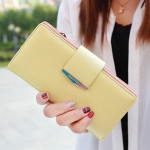 กระเป๋าสตางค์ใบยาว Prettyzys Tabby Long สีเหลือง