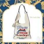 กระเป๋าถือสะพาย ทรงtote แบบมีสไตล์ เรโทร คลาสสิก The Lucky bag Simply white ส่งฟรี ems
