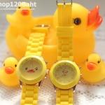 นาฬิกาข้อมือลายเป็ด b-duck น่ารัก สีเหลือง