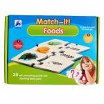 จิ๊กซอ จับคู่ภาพคำศัพท์ Match-it! Foods แฟลชการ์ดจับคู่เสริมสร้างทักษะภาษาอังกฤษ