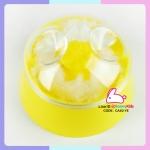 กระปุกแป้งตลับแป้งเด็ก size ใหญ่ สีเหลือง