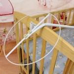 โครงมุ้งเปลเด็ก สแตนเลส แบบน๊อกดาวน์ พร้อมอุปกรณ์ยึดติดกับเปลไม้เด็ก (ไม่รวมผ้ามุ้งและเปล)