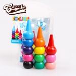 สีเทียนสำหรับเด็กเล็ก ปลอดสารพิษ กินได้ Crayonlab เซ็ต 12 สี (สวมนิ้ว)