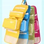 กระเป๋าใส่อุปกรณ์ห้องน้ำ ใส่อุปกรณ์อาบน้ำ หรือของใช้ส่วนตัว แขวนได้ ดึงกระเป๋าอีกสองใบแยกใช้ได้