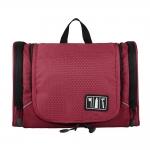 กระเป๋าใส่อุปกรณ์ห้องน้ำ ใส่อุปกรณ์อาบน้ำ ใส่ขวดได้ มีกระเป๋าใส่ของเพิ่มซ้าย-ขวา แขวนได้ สำหรับเดินทาง ท่องเที่ยว (สีแดง)