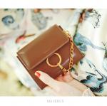 กระเป๋าสตางค์ใบสั้น MAVENUS สีน้ำตาล