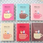 สมุดโน้ต Milk Tea ปกสีสันสดใสน่ารัก คละสี