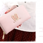 กระเป๋าสตางค์ใบยาว ซิปรอบ Rabby Style L สีชมพู