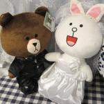ตุ๊กตาไลน์คู่ แต่งงาน