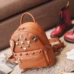 กระเป๋าเป้หนังงานสวย งานเทห์ สไตล์ mcm ขนาดมินิ backpack สีน้ำตาล ราคา 990 บาท Free ems