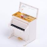 กล่องดนตรีเปียโนคลาสสิคสีขาว ตุ๊กตาบันเล่ต์เต้นรำ < พร้อมส่ง >