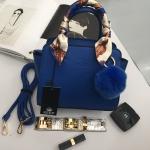 กระเป๋า KEEP saffiano leather Mini office bag สีน้ำเงิน สวย น่ารัก ขนาดตอบทุกโจทย์การใช้งาน