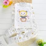 ชุดนอนเด็กเล็ก แขนยาว+ขายาว ลายการ์ตูนหมีในถ้วย สำหรับเด็ก 1-3 ปี
