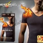 META MAX เสื้อยืดผู้ชายคอวีแขนสั้นสลายไขมัน
