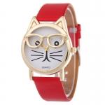 Cl5038 นาฬิกาแฟชั่น แมวใส่แว่น 120บ.