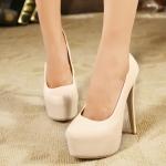 [พร้อมส่ง] ไซส์ 40 (EU) รองเท้าส้นสูง สีครีมเบจ สูง 6 นิ้ว สไตล์ยุโรป