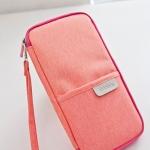 กระเป๋าใส่พาสปอร์ต กระเป๋าใส่หนังสือเดินทาง เอกสารสำคัญ มีสายคล้องมือ พกพาสะดวก ผลิตจากโพลีเอสเตอร์ กันน้ำ คุณภาพดี