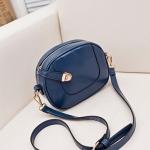 กระเป๋าสะพายแฟชั่น Mini Circle สีน้ำเงิน