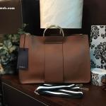 กระเป๋าถือหรือสะพาย Zara Tote With Metallic Handles 2017 สีน้ำตาล ราคา 1,390 บาท Free Ems