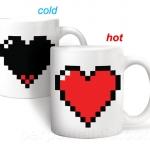 แก้วน้ำหัวใจพิกเซล PIXEL HEART <พร้อมส่ง>