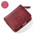 กระเป๋าสตางค์ใบสั้น FOREVER YOUNG BEAUTY S. สีแดง