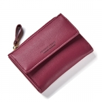 กระเป๋าสตางค์ใบสั้น FOREVER YOUNG COVER สีแดง
